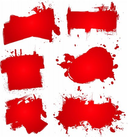 dripping blood backgrounds - Abstract blood splats that could be used for placing text on Stock Photo - Budget Royalty-Free & Subscription, Code: 400-03917711