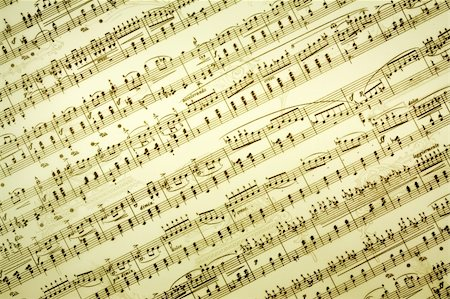 Vintage music notes background Stock Photo - Budget Royalty-Free & Subscription, Code: 400-03919888