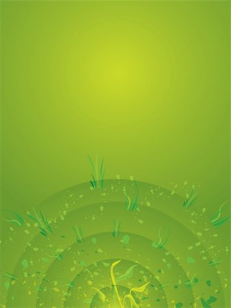 An abstract background in green and yellow with radiating circles Stock Photo - Budget Royalty-Free & Subscription, Code: 400-03910010