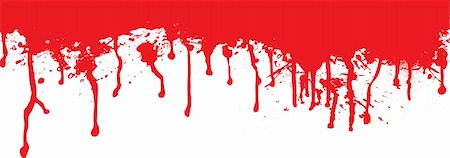 dripping blood backgrounds - Blood splat header ideal for the top of a page Stock Photo - Budget Royalty-Free & Subscription, Code: 400-03926750
