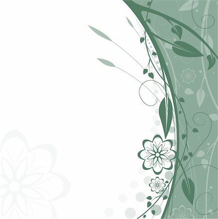 simsearch:400-03931671,k - Floral background 11 - Highly detailed vector background illustration Stock Photo - Budget Royalty-Free & Subscription, Code: 400-03926978