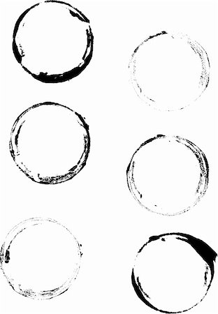 spot (dirt mark) - 6 Grunge Cup rings - Highly Detailed vector grunge elements Stock Photo - Budget Royalty-Free & Subscription, Code: 400-03927253