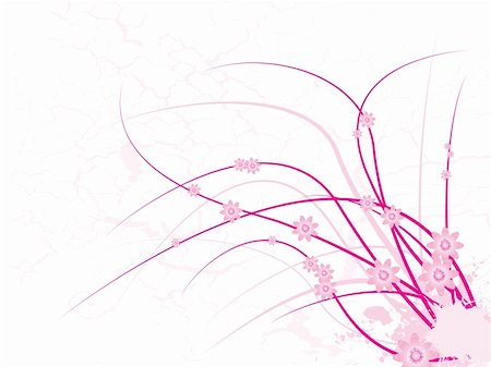 simsearch:400-03931671,k - floral abstract pink design with plenty of copy space Stock Photo - Budget Royalty-Free & Subscription, Code: 400-03927665