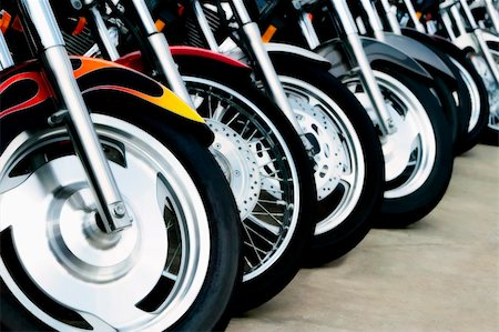 Detail shots of motorcycles. Stock Photo - Budget Royalty-Free & Subscription, Code: 400-03927951