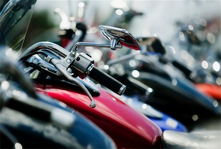 Detail shots of motorcycles. Stock Photo - Budget Royalty-Free & Subscription, Code: 400-03927952
