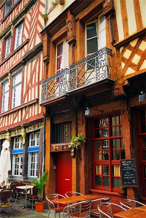 Old medieval half-timbered houses in Rennes, France Stock Photo - Budget Royalty-Free & Subscription, Code: 400-03929362