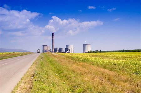 rural gas station - Power station in the rural Stock Photo - Budget Royalty-Free & Subscription, Code: 400-03929402