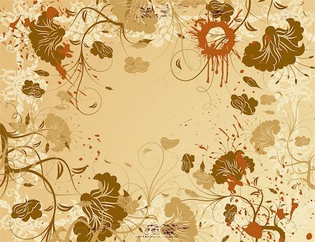 simsearch:400-03995944,k - Abstract grunge paint flower background with butterfly, element for design, vector illustration Stock Photo - Budget Royalty-Free & Subscription, Code: 400-03936343