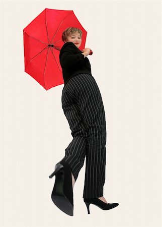 Businesswoman with an umbrella Stock Photo - Budget Royalty-Free & Subscription, Code: 400-03937085