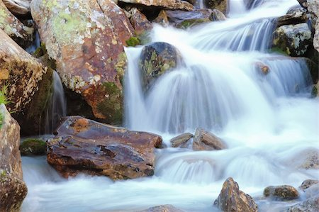 Little brook mountain waterfall, summer season Stock Photo - Budget Royalty-Free & Subscription, Code: 400-03939002