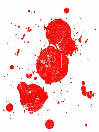 spilling blood texture - Grunge Splat -  Background is transparent so they can be overlayed on other Illustrations or Images. Stock Photo - Budget Royalty-Free & Subscription, Code: 400-03939143