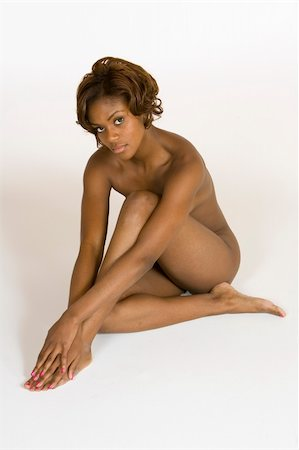 African American female posing nude Stock Photo - Budget Royalty-Free & Subscription, Code: 400-03930444