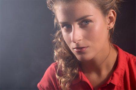 sweaty woman - Beautiful blond woman having just done sports Stock Photo - Budget Royalty-Free & Subscription, Code: 400-03930638