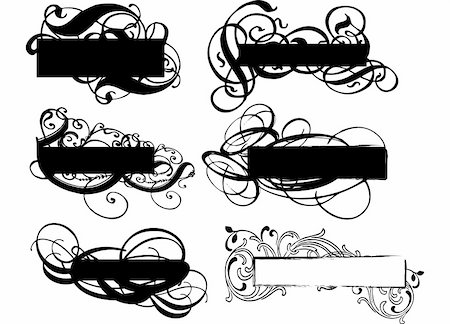 simsearch:400-03931671,k - grungy ornamental banners collection, vector illustration Stock Photo - Budget Royalty-Free & Subscription, Code: 400-03930695