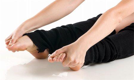 feet gymnast - legs in black knee socks warming up Stock Photo - Budget Royalty-Free & Subscription, Code: 400-03931116