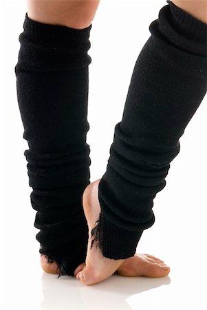 feet gymnast - legs in black knee socks warming up Stock Photo - Budget Royalty-Free & Subscription, Code: 400-03931117