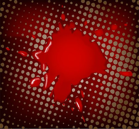 dripping blood backgrounds - Abstract vector artistic red background Stock Photo - Budget Royalty-Free & Subscription, Code: 400-03931501