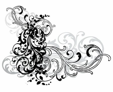 simsearch:400-03931671,k - abstract grungy swirls on white  background Stock Photo - Budget Royalty-Free & Subscription, Code: 400-03931671