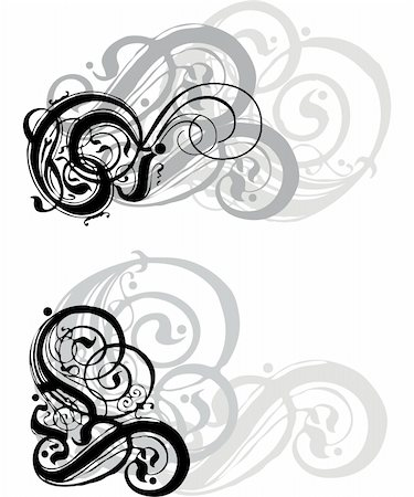 simsearch:400-03931671,k - abstract grungy swirls on white  background Stock Photo - Budget Royalty-Free & Subscription, Code: 400-03931683