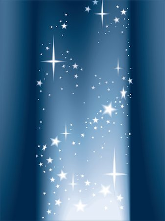 Magic column of light and shining stars Stock Photo - Budget Royalty-Free & Subscription, Code: 400-03944381