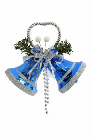 Christmas Bells / Hand made clipping path included Stock Photo - Budget Royalty-Free & Subscription, Code: 400-03945802