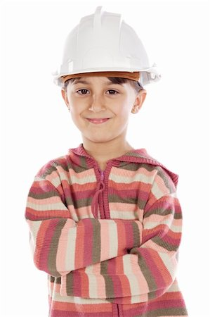 designer backgrounds - future engineer girl a over white background Stock Photo - Budget Royalty-Free & Subscription, Code: 400-03947809