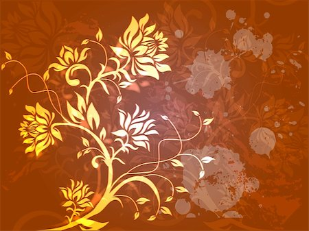 simsearch:400-03931671,k - Abstract floral vector background Stock Photo - Budget Royalty-Free & Subscription, Code: 400-03948225