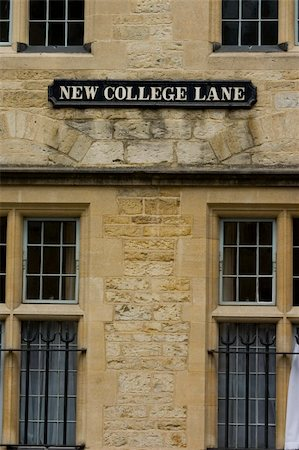"""""""New College Lane"""" a quaint lane in Oxford, England Stock Photo - Budget Royalty-Free & Subscription, Code: 400-03942382"""