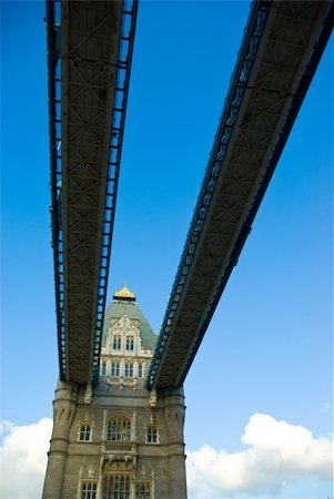 London tower bridge with blue sky background Stock Photo - Budget Royalty-Free & Subscription, Code: 400-03942677