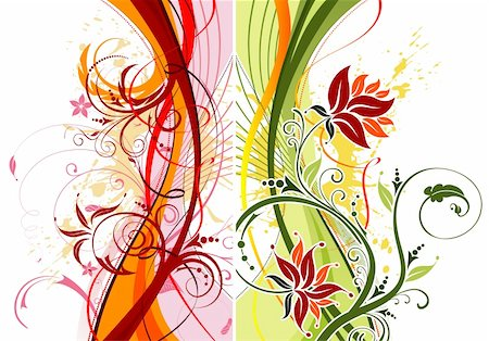 simsearch:400-03931671,k - Grunge paint flower background with waves, element for design, vector illustration Stock Photo - Budget Royalty-Free & Subscription, Code: 400-03955331