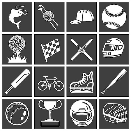 queue club - A set of sports icons / design elements. Vector art in Adobe Illustrator 8 EPS format. Can be scaled to any size without loss of quality. Stock Photo - Budget Royalty-Free & Subscription, Code: 400-03956905