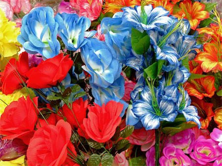 dozen roses - Colorful flower bouquet with different kind of flowers, close-up shot Stock Photo - Budget Royalty-Free & Subscription, Code: 400-03956936