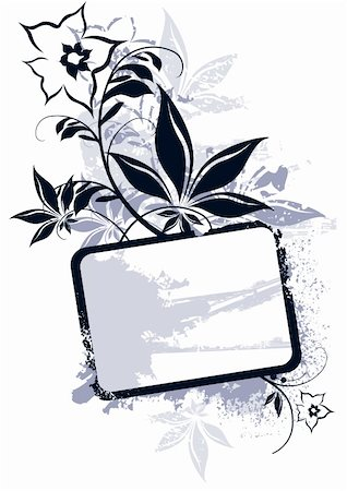 simsearch:400-03931671,k - Floral Vector Frame Stock Photo - Budget Royalty-Free & Subscription, Code: 400-03951808