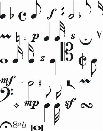Illustration of Musical Silouettes - Vector Stock Photo - Budget Royalty-Free & Subscription, Code: 400-03952476