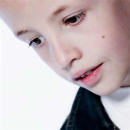 a model portrait of a young kid in the studio Stock Photo - Budget Royalty-Free & Subscription, Code: 400-03965350