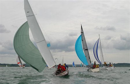 sailing boat storm - Yachts racing on a stormy day Stock Photo - Budget Royalty-Free & Subscription, Code: 400-03965894