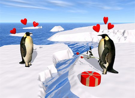 a 3d render to celebrate love and valentine's day Stock Photo - Budget Royalty-Free & Subscription, Code: 400-03967295