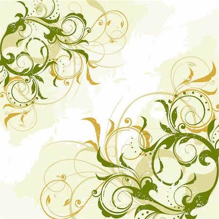 scroll (design) - floral background Stock Photo - Budget Royalty-Free & Subscription, Code: 400-03967623