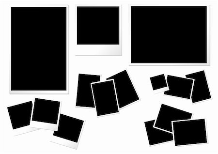 Photo paper templates with different formats sizes and orientations Stock Photo - Budget Royalty-Free & Subscription, Code: 400-03967916