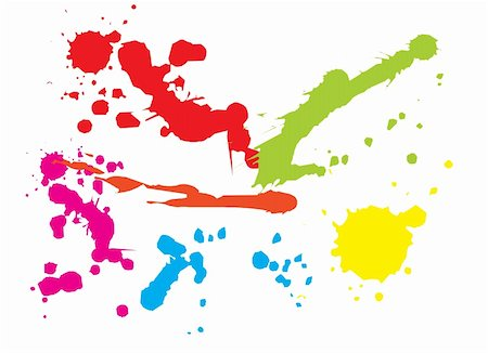 simsearch:400-04454583,k - Paint splat backgorund. Vector illustration Stock Photo - Budget Royalty-Free & Subscription, Code: 400-03967939