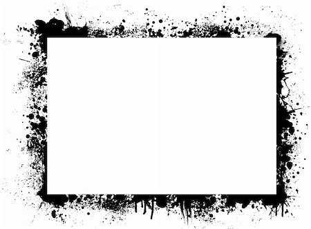 simsearch:400-03931671,k - Abstract ink border with plenty of white copy space Stock Photo - Budget Royalty-Free & Subscription, Code: 400-03968595