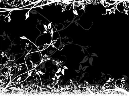 simsearch:400-03931671,k - This is vector illustration background of abstract grunge floral Stock Photo - Budget Royalty-Free & Subscription, Code: 400-03969824