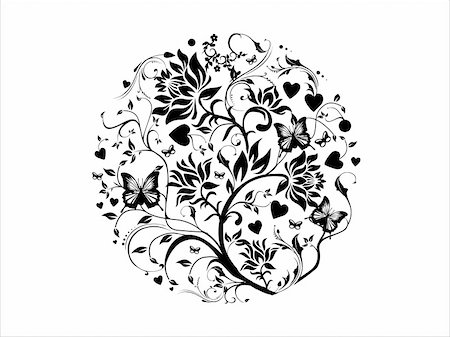 simsearch:400-03931671,k - This is vector illustration background of abstract grunge floral Stock Photo - Budget Royalty-Free & Subscription, Code: 400-03969935