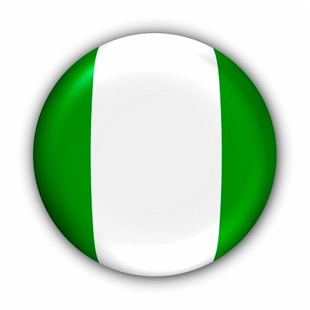 World Flag Button Series - Africa - Nigeria (With Clipping Path) Stock Photo - Budget Royalty-Free & Subscription, Code: 400-03963784