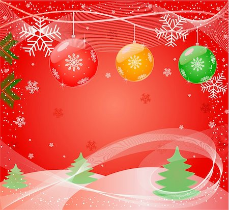 pretty backgrounds draw - Christmas abstract Background - vector Stock Photo - Budget Royalty-Free & Subscription, Code: 400-03963977