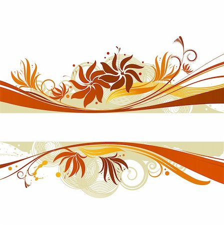 scroll (design) - floral background Stock Photo - Budget Royalty-Free & Subscription, Code: 400-03970724