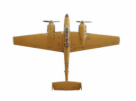 enemy - airplane on white background toy army military Stock Photo - Budget Royalty-Free & Subscription, Code: 400-03973881