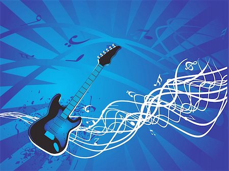 vector illustration of grunge floral musical instrument Stock Photo - Budget Royalty-Free & Subscription, Code: 400-03984335