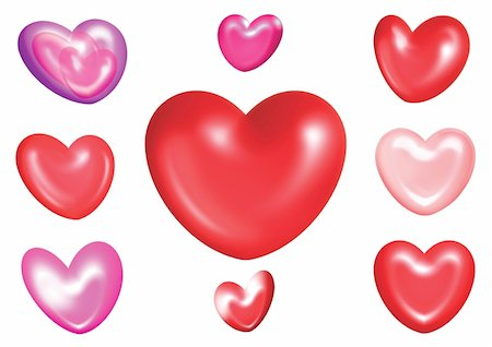 different kind of love heart shape Stock Photo - Budget Royalty-Free & Subscription, Code: 400-03985260