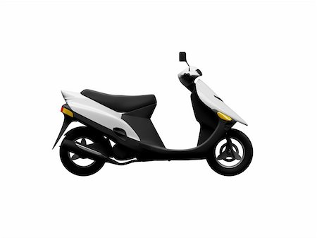 sports scooters - isolated scooter Stock Photo - Budget Royalty-Free & Subscription, Code: 400-03983359